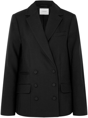 Frame Double-breasted Wool-twill Blazer