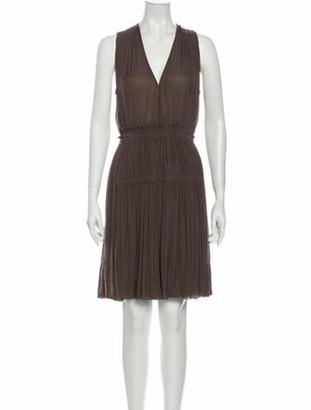 Isabel Marant V-Neck Knee-Length Dress Brown
