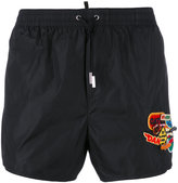 DSQUARED2 logo patch swim shorts