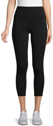 Andrew Marc Strappy Stretch Cotton Leggings