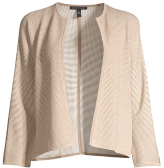 Eileen Fisher Silk & Organic Cotton Open-Front Cardigan