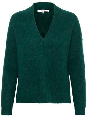 Gestuz BRENDAGZ KNITTED PULLOVER in forest melange - Size S | wool | green - Green/Green