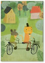 Americanflat Cat And Bicycle Print Art, Print Only