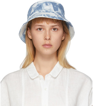 Blue Blue Japan Blue Kago Bassen Bucket Hat