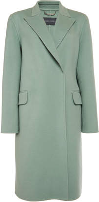 Alberta Ferretti Wool-Blend Felt Coat