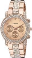 Kensie Women's Quartz Metal and Alloy Casual Watch, Color:-Toned (Model: KEN5269)