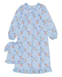 AME Frozen Big Girl Nightgown with Matching Doll Nightgown