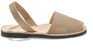 Minorquines Avarca Nubuck Flat Sandals