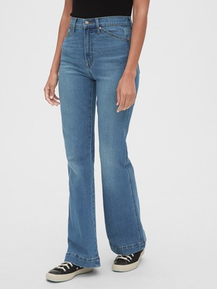Gap High Rise Flare Jeans with Secret Smoothing Pockets