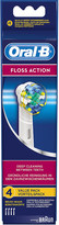 Oral-B Oral B Pack of four Floss Action replacement toothbrush heads
