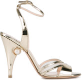 Nicholas Kirkwood metallic sandals - women - Leather - 35