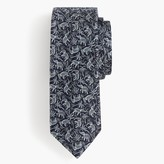 J.Crew English silk tie in elephant floral print