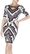 Herve Leger Kauri Multi-Color Patchwork Dress