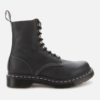 Dr. Martens Women's 1460 Pascal Hdw Virginia Leather 8-Eye Boots - Black