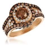 LeVian Le Vian Chocolatier Vanilla Diamonds, Chocolate Diamonds & 14K Strawberry Gold Ring