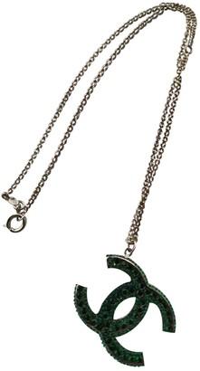 Chanel CC Green Silver Gilt Necklaces