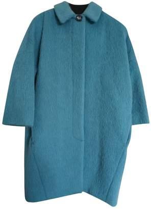 Max Mara Turquoise Wool Coat for Women