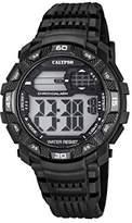 Calypso Men's Digital Watch with LCD Dial Digital Display and Black Plastic Strap K5702/8