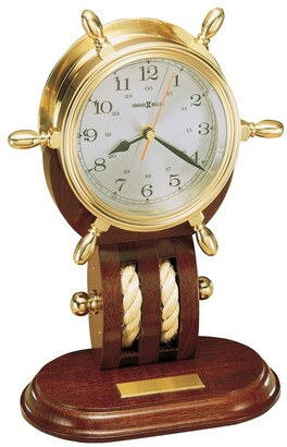 Howard Miller Britannia Vintage, Nautical, and Old World Style Mantel Clock with Rope Accents, Reloj del Estante