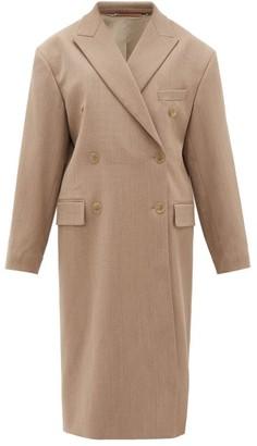 Acne Studios Ode Double-breasted Wool-blend Coat - Womens - Light Beige