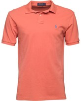 Polo Ralph Lauren Mens Custom Fit Weathered Mesh Polo Winslow Red 016
