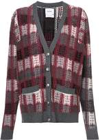Barrie Checked Oversized Cardigan