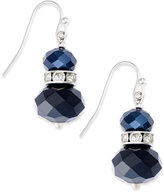 INC International Concepts Silver-Tone Stacked Bead and Crystal Drop Earrings, Only at Macy's