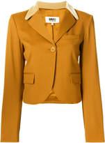 MM6 MAISON MARGIELA velvet collar blazer