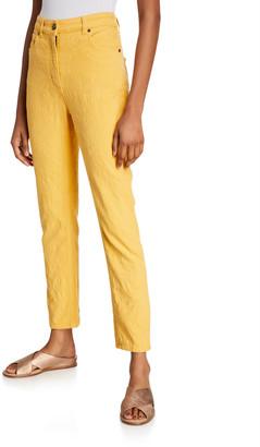 Etro Textured Straight-Leg Jeans