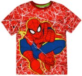 Marvel Boys Spiderman T-Shirt New Kids Short Sleeved Top Blue Tee