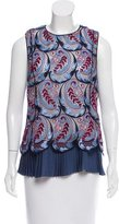Wes Gordon Lace-Embroidered Sleeveless Top