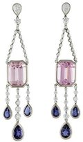 Kwiat Platinum Kunzite, Iolite & Diamond Swing Earrings