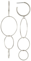Argentovivo Four Circle Drop Earrings