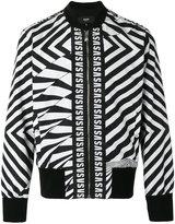 Versus printed logo bomber jacket - men - Cotton/Polyester/Spandex/Elastane/Viscose - M