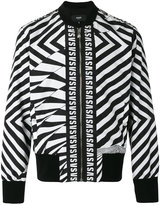 Versus printed logo bomber jacket - men - Polyester/Viscose/Spandex/Elastane/Cotton - M
