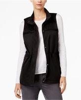Eileen Fisher Organic Cotton-Blend Stand-Collar Vest