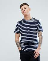 Pull&Bear Stripe T-Shirt In Navy And White