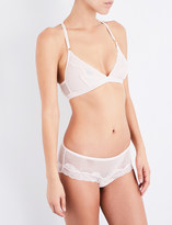 Palindrome Firecrown soft-cup fishnet bra