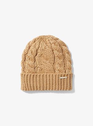 Michael Kors Cable-Knit Beanie Hat