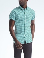 Short-Sleeve Camden-Fit Custom-Wash Gingham Shirt