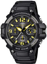 Casio Mens Black Resin Strap Chronograph Watch MCW100-9AV