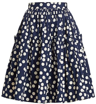 Carolina Herrera Polka Dot Ruffle Skirt