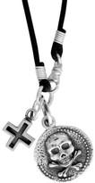 King Baby Studio Men's Skull & Cross Pendant Necklace