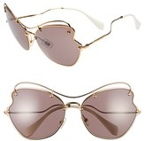 Miu Miu Women's 65Mm Sunglasses - Light Purple
