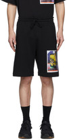 Dries Van Noten SSENSE Exclusive Black Mika Ninagawa Edition Print Shorts