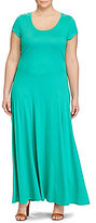 Lauren Ralph Lauren Plus Jersey Scoopneck Maxi Dress