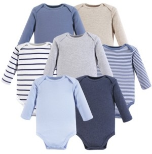 Hudson Baby Baby Vision 0-24 Months Unisex Baby Long Sleeve Bodysuits, 7-Pack
