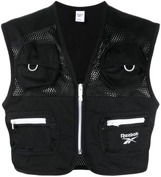 Reebok Classics zip-up logo vest