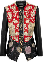 Alexander McQueen Patchwork Embroidered Printed Leather And Neoprene Jacket - IT42