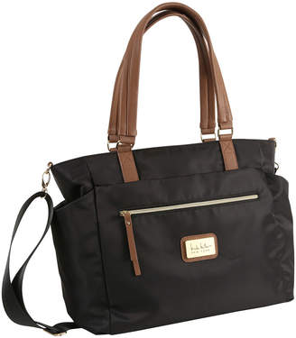 Nicole Miller Zip-Top Nylon Tote Bag w/ Pullout Pouches